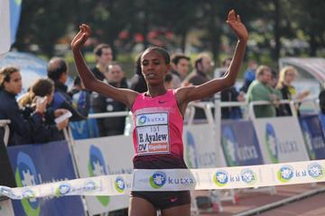 Hiwot Ayalew wins the women's race in Elgoibar (Alfambra Fundación ANOC)