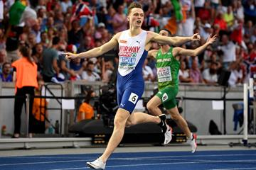 Karsten Warholm takes the 2018 European 400m hurdles title clocking 47.64 (Getty Images)