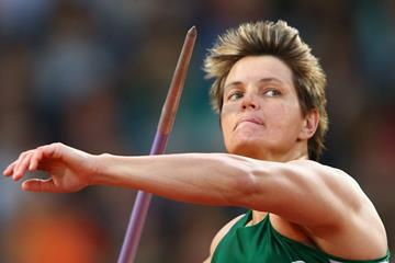 South Africa's Sunette Viljoen in action in the javelin (Getty Images)