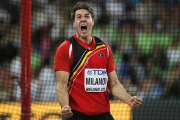Philip Milanov at the 2015 World Championships (AFP/Getty Images)