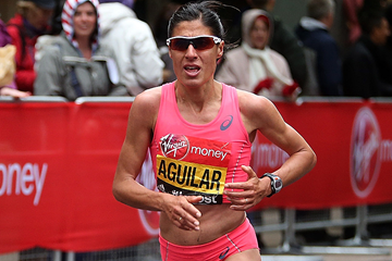 Spanish distance runner Alessandra Aguilar in action (Getty Images)