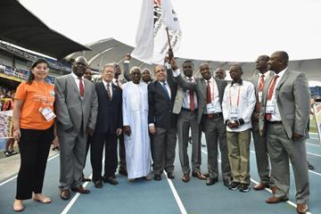 handover of the IAAF flag from Cali to Nairobi at the IAAF World Youth Championships, Cali 2015  (Getty Images)