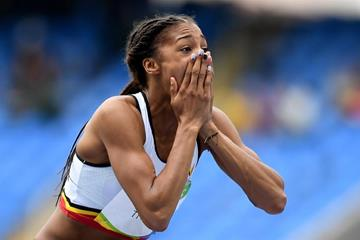 Nafissatou Thiam in the heptathlon high jump at the Rio 2016 Olympic Games (Getty Images)