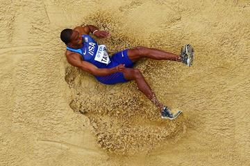 Christian Taylor in triple jump qualifying at the IAAF World Championships London 2017 (Getty Images)