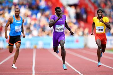 Abdalelah Haroun takes the Continental Cup 400m title (Getty Images)