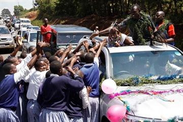 David Rudisha's homecoming celebration in Kilgoris, Kenya (Martin Mukangu (The Standard))