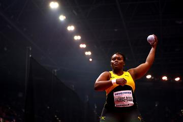 Danniel Thomas-Dodd in the shot put at the IAAF World Indoor Championships Birmingham 2018 (Getty Images)