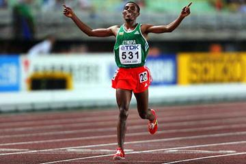 Kenenisa Bekele wins his third consecutive World 10,000m title (Getty Images)