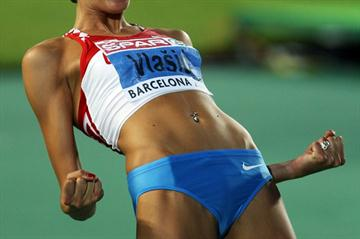 Blanka Vlasic in Barcelona - her first continental medal is gold (Getty Images)