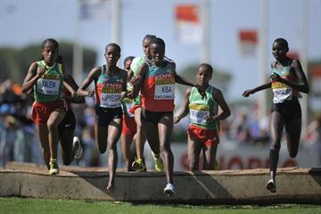 Faith Chepngetich Kipyegon of Kenya in action in the IAAF World Cross Country Championships women junior's race (Getty Images)