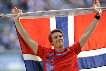 Andreas Thorkildsen after winning the 2009 world javelin title (AFP / Getty Images)