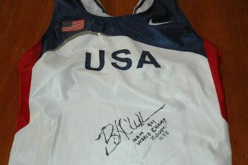 Lauryn Williams' 2005 World Champs bodysuit (IAAF)
