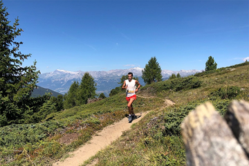 Kilian Jornet on his way to winning the WMRA World Cup race in Sierre-Zinal (Justin Britton / organisers)