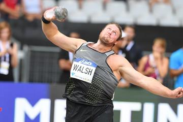 Tomas Walsh wins the shot put at the IAAF Diamond League meeting in Paris (Jiro Mochizuki)