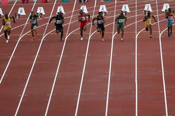 Athletes compete at the 5 July Stadium in Algiers (AFP/Getty Images)