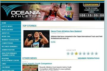 A snapshot of Oceania's new home page (Freelance)