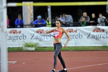 Mariya Kuchina at the 2015 IAAF World Challenge meeting in Zagreb (Organisers)