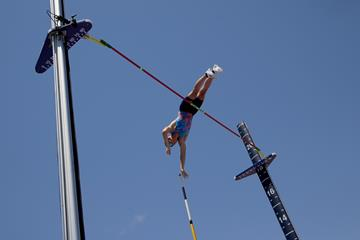 Pole vault winner Sam Kendricks at the US Championships (Getty Images)