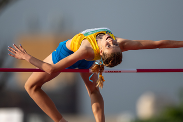 High jump winner Yaroslava Makuchikh at the Buenos Aires 2018 Youth Olympic Games (OIS/IOC)