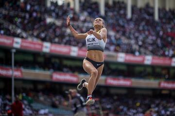 Lea-Sophie Klik in the long jump at the IAAF World U18 Championships Nairobi 2017 (Getty Images)