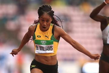 Jamaica's Briana Williams takes the victory in the 100m at the IAAF World U20 Championships Tampere 2018 (Getty Images)