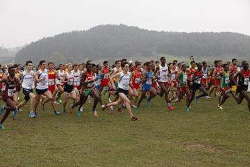 The start of the junior men's race at the IAAF World Cross Country Championships, Guiyang 2015 (Getty Images)
