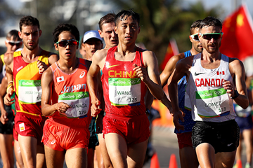 Wang Zhen in the 20km race walk at the Rio 2016 Olympic Games (Getty Images)