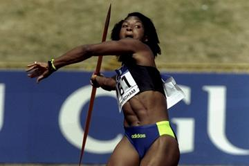 Denise Lewis at the 1999 British World Championships trials (Getty Images)