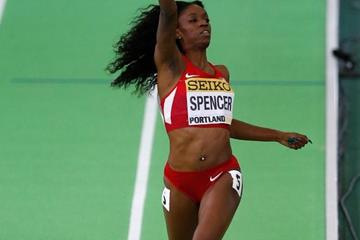 Ashley Spencer anchors USA to gold in the women's 4x400m at the IAAF World Indoor Championships Portland 2016 (Getty Images)