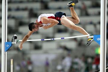 Brad Walker of USA on his way to gold in the Men's Pole Vault Final (Getty Images)