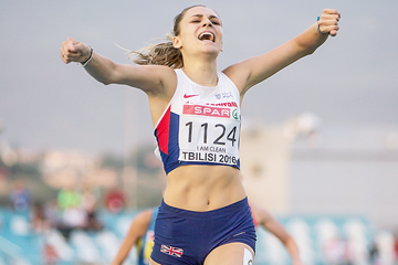 Niamh Emerson in the heptathlon 800m (Getty Images)