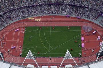 Capacity crowd at London Olympic Stadium for the first session of athletics (Getty Images)