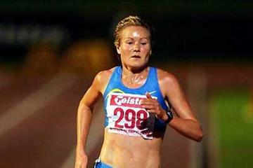 Benita Johnson on the way to 10,000m victory at the 2006 Australian Championships (Getty Images)