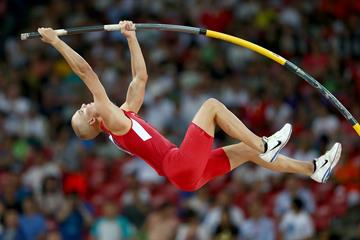 Sam Kendricks in the pole vault at the IAAF World Championships (Getty Images)