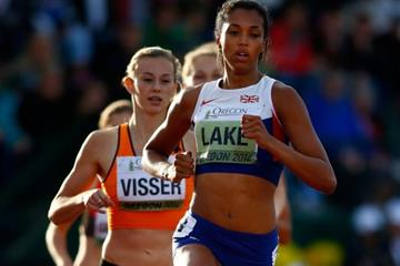 Morgan Lake in the heptathlon 800m at the IAAF World Junior Championships, Oregon 2014 (Getty Images)