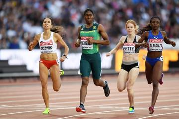 Heat 3 of the opening round of the women's 800m at the IAAF World Championships London 2017 (Getty Images)