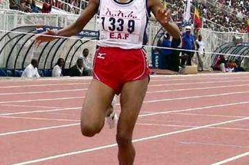 Meseret Defar wins 5000m at Ethiopian Champs (Nahom Tesfaye)