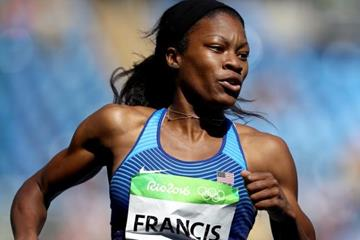 Phyllis Francis in the women's 400m heats at the Rio 2016 Olympic Games (Getty Images)