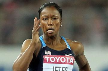 Carmelita Jeter of United States going for victory in the women's 100 metres final  (Getty Images)
