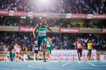 Sokwakhana Zazini wins the 400m hurdles at the IAAF World U18 Championships Nairobi 2017 (Getty Images)