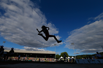 Action from the long jump final at the IAAF World Junior Championships (Getty Images)