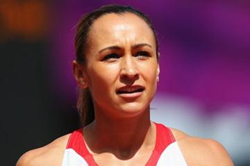 Jessica Ennis of Great Britain looks on as she competes in the Women's Heptathlon High Jump on Day 7 of the London 2012 Olympic Games at Olympic Stadium on August 3, 2012 (Getty Images)