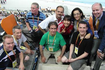 The IAAF Editorial Team in Daegu (IAAF )