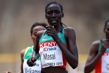 Linet Masai at the 2010 World Cross Country Championships (Getty Images)