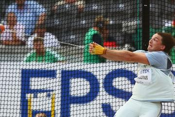 Primoz Kozmus of Slovenia competes in the men's Hammer Throw final (Getty Images)