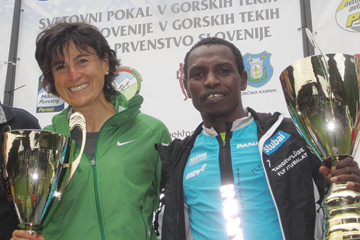 Antonella Confortola and Petro Mamu in Kamnik (Organisers)