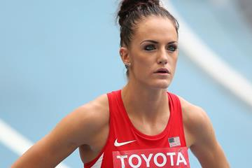 Georganne Moline in the 400m hurdles at the IAAF World Championships (Getty Images)