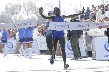 Polline Wanjiku Njeru wins the Warsaw Half Marathon (Organisers)