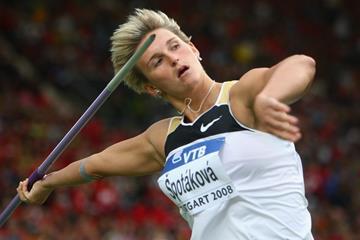 Barbora Spotakova in the javelin at the 2008 IAAF World Athletics Final in Stuttgart (Getty Images)