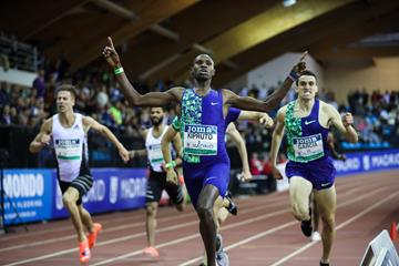 Collins Kipruto wins the Madrid 800m (Dan Vernon)